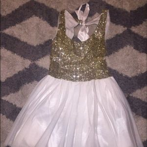 Dresses & Skirts - White and Gold Homecoming Dress